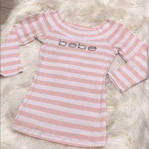 BEBE striped top